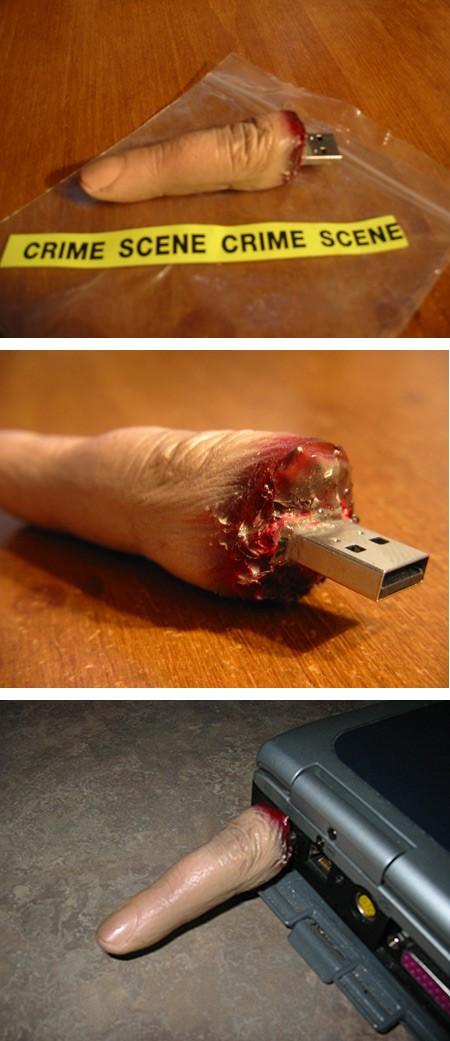 Crime-Scene-FInger-USB