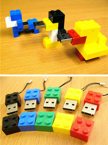 how to make a lego flash drive