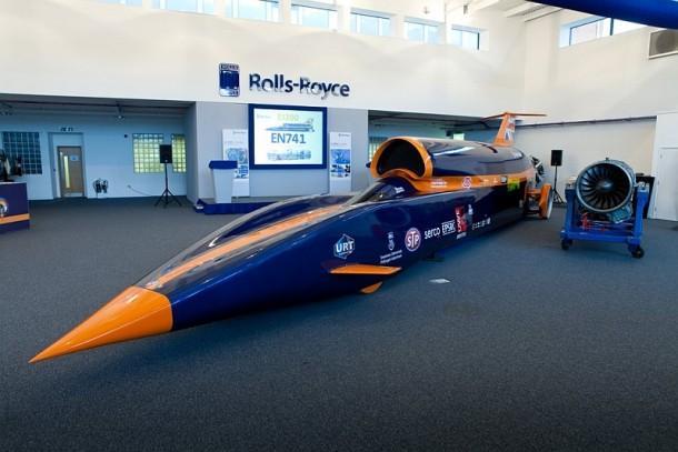 Rolls-Royce backs Bloodhound project. [pic credit Stefan Marjoram]