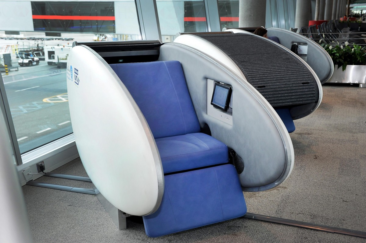 Abu dhabi airport installs world 39 s first gosleep sleeping pods for International decor company abu dhabi