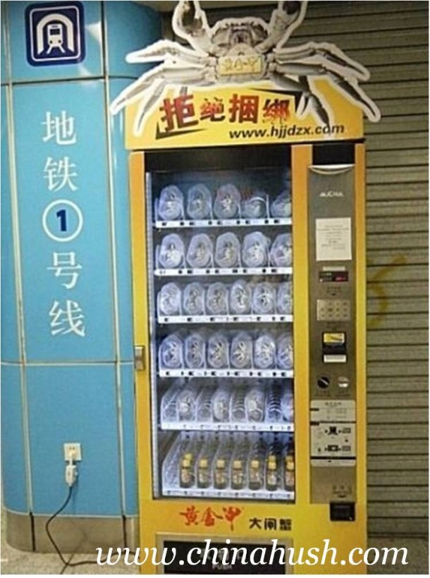 In China, A Vending Machine That Dispenses Live Crabs-1
