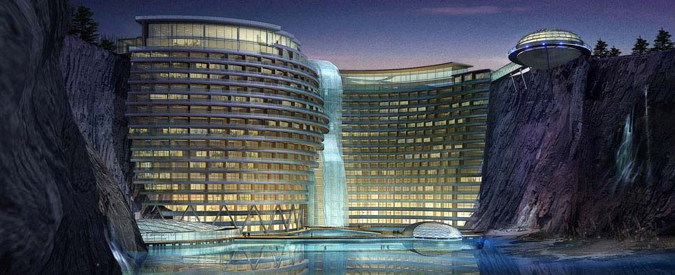 Songjiang shimao hotel a submerged 5 star hotel for Top 100 hotels