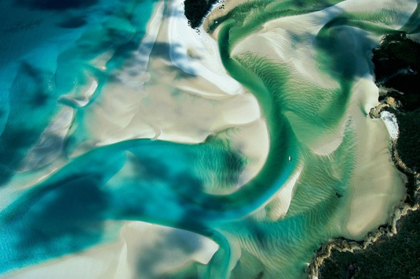 10. Sandbank on the Coast of Whitsunday Island, Queensland, Australia