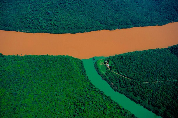 24. Confluence of the Rio Uruguay and a Tributary, Misiones Province, Argentina