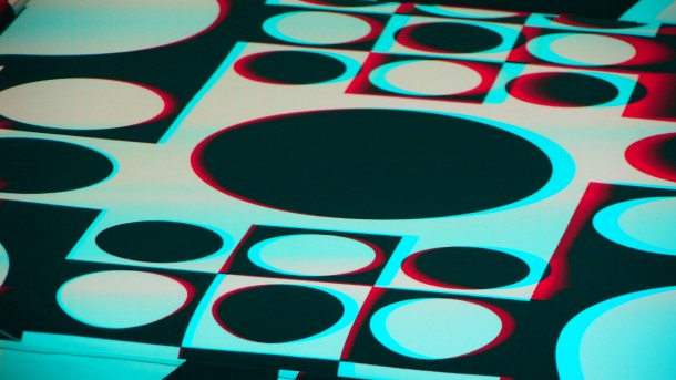 3D floor 3D glass image