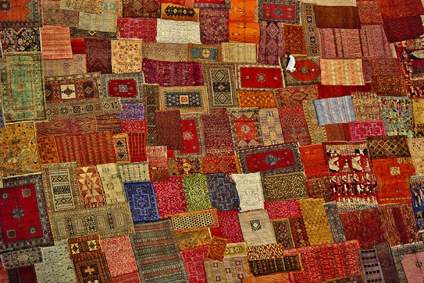 4. Patchwork of Carpets in Marrakech, Morocco