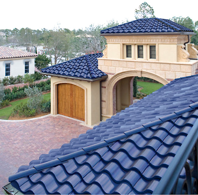 Reduce your electricity bills with new solar roof tiles for Metal roof that looks like spanish tile