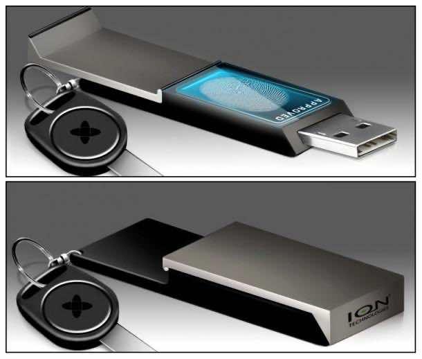 12. Biometric USB Flash Drive