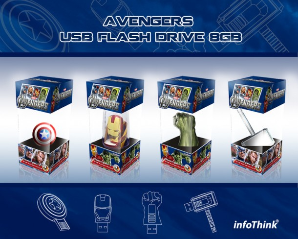 19. The Avengers USB Sticks