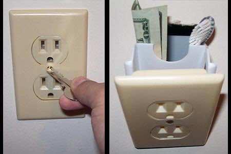 2. Secret Electric Socket Stash
