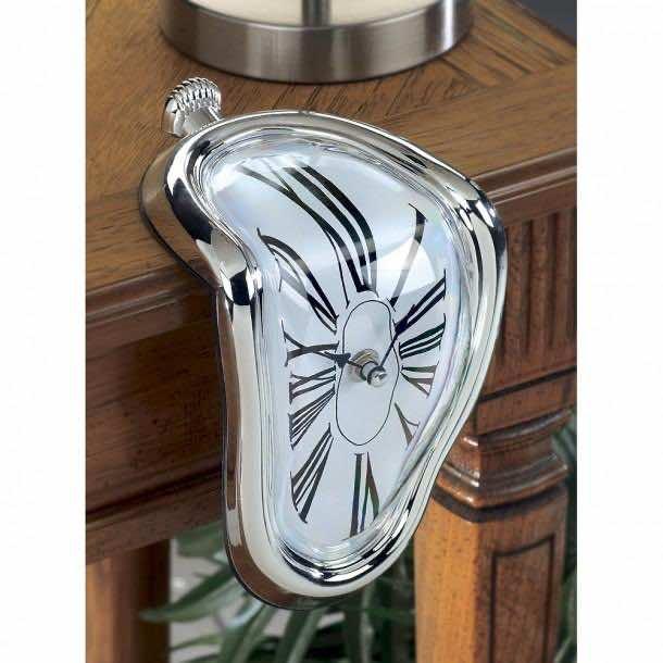 20. Time Warp Shelf Clock