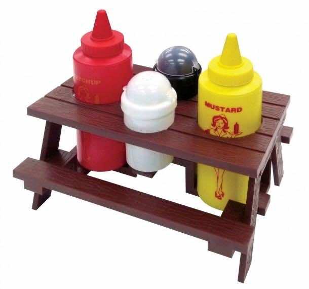 4. Picnic Table Condiment Set