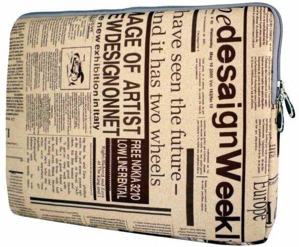 9. Newspaper Laptop Sleeve