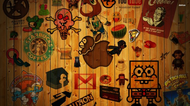 Apple-and-Logo-Wallpaper