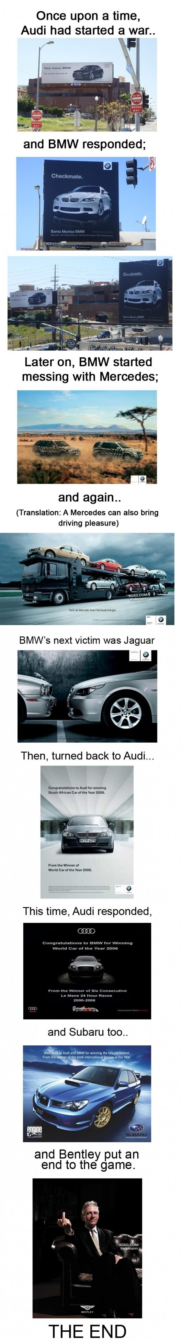 Audi started an ad war, BMW took it everywhere