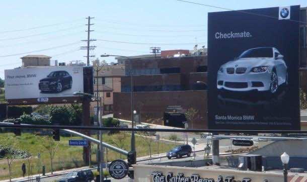 Audi vs BMW Billboard Ad war 1