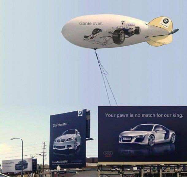 Audi vs BMW Billboard Ad war 3