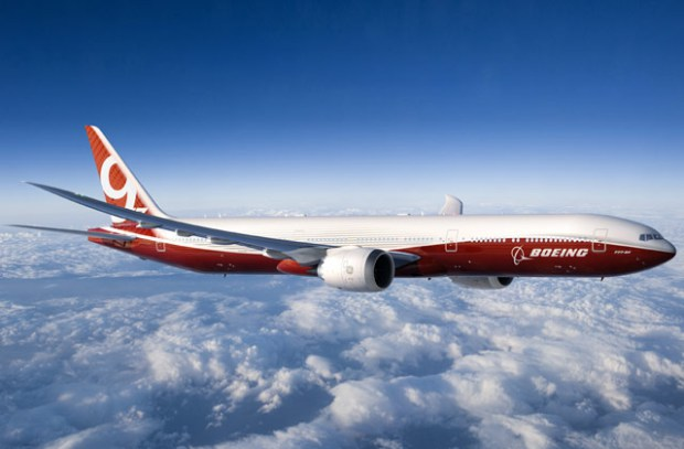 Boeing 777x has folding wingtips