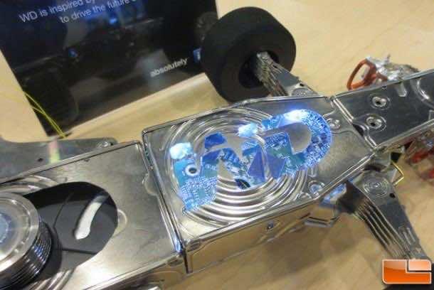 F1 Car made from hard disks 7