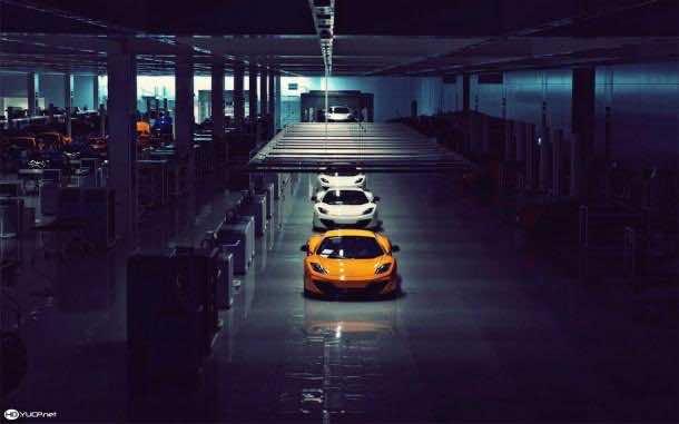 HD car factory wallpaper