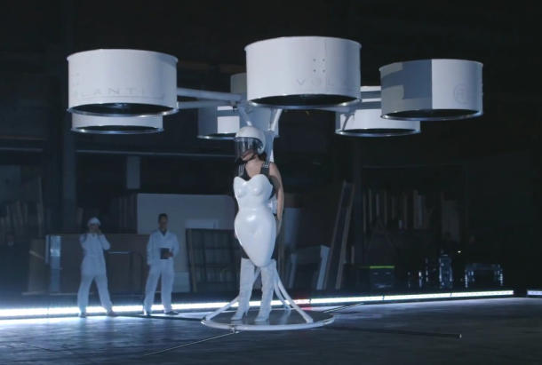 Lady gaga drone dress