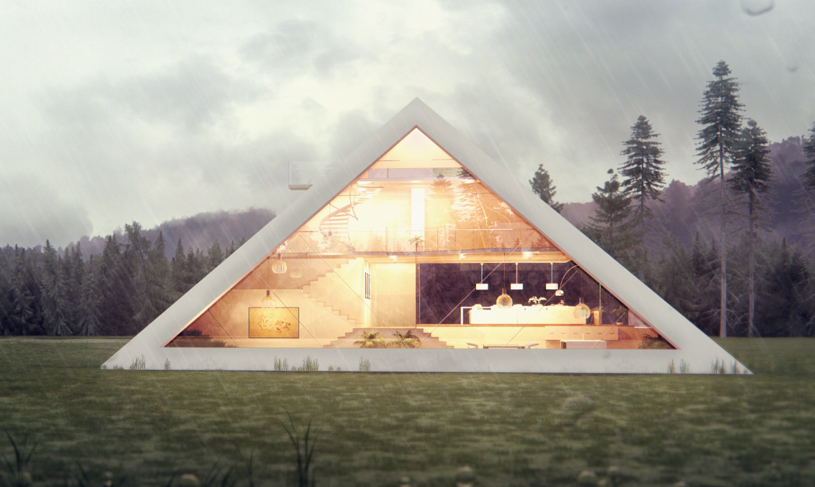 Pyramid Shaped House Makes You Feel Like An Ancient