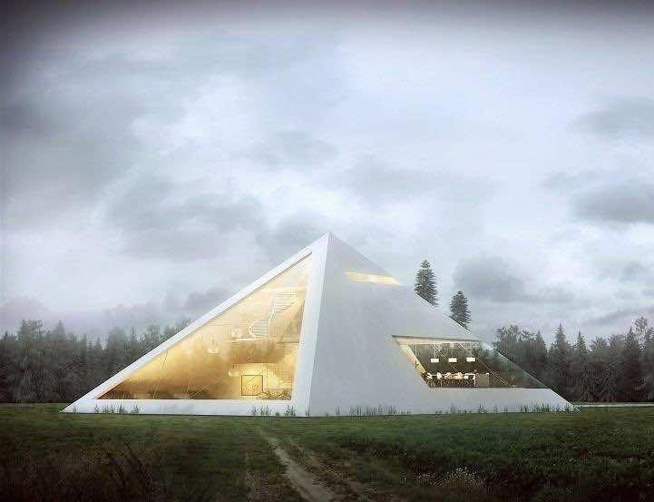Modern Pyramid House