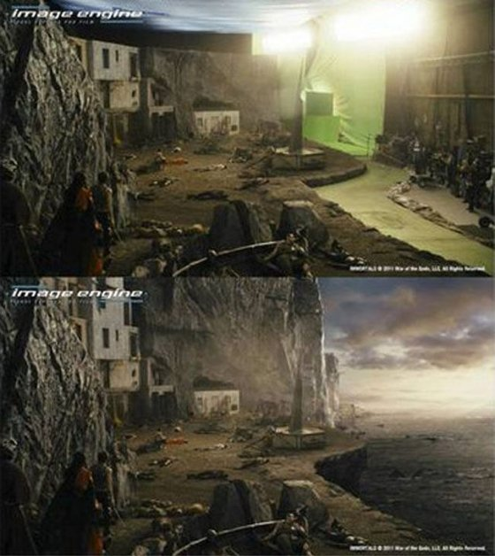 Movies before and after computer visual graphics 9