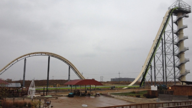 World's tallest 17 story water slide
