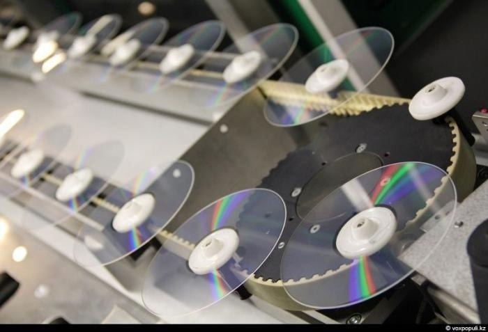 DVD's manufactured at Kazakhstan plant