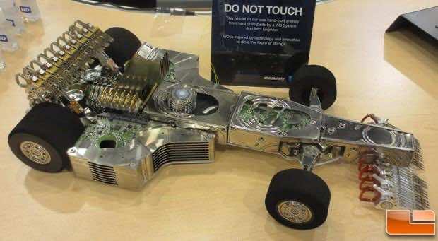 F1 Car Made from Hard Drives