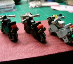 Miniature Motorcycle Made from Disposable Lighters