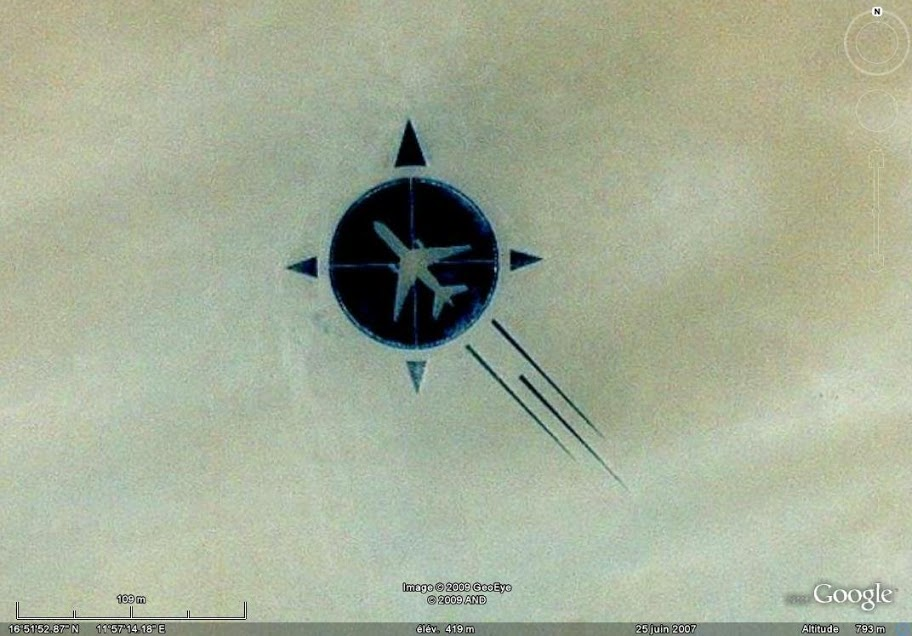 Amazing Google Map Image of Plane Crash Tribute