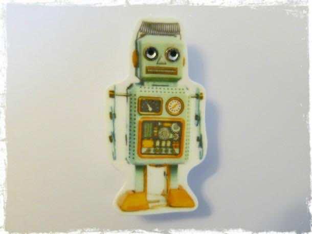 retro robot wallpaper 6