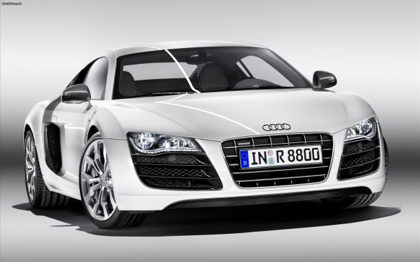 white-audi-Wallpaper
