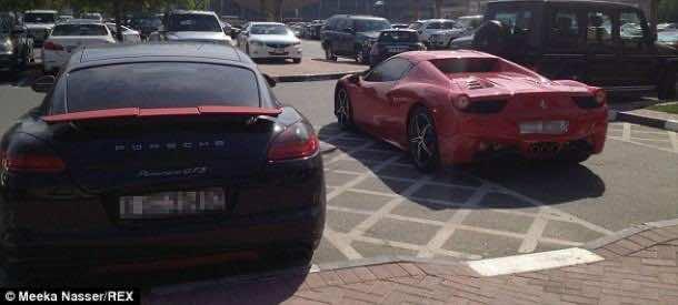 12 Porsche Cayenne GTS and a Ferrari