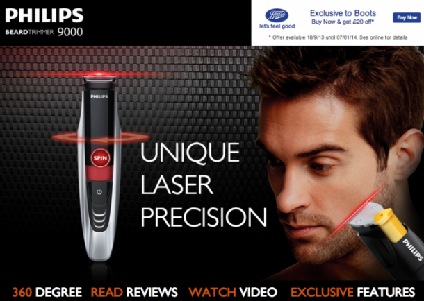 2. Philips Norelco Beard trimmer Series 9000