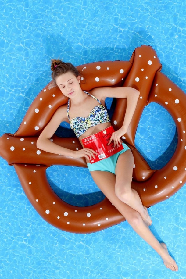 24. Pretzel pool float