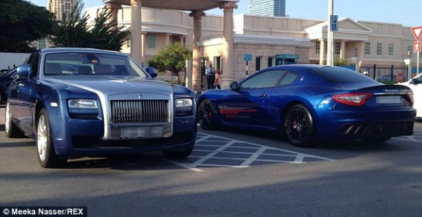 9 Rolls Royce and a Maserati