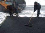 Laying Asphalt on Snow 4