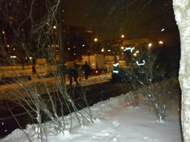 Laying Asphalt on Snow 6