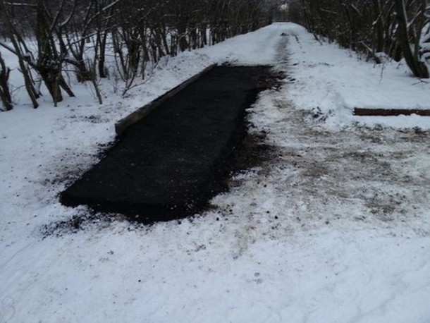Laying Asphalt on Snow 7
