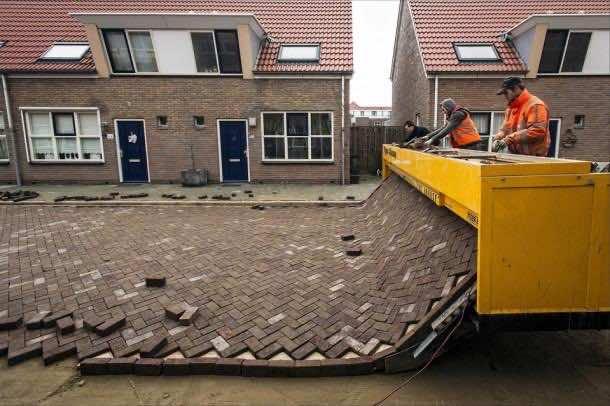 Dutch-made road paving machine