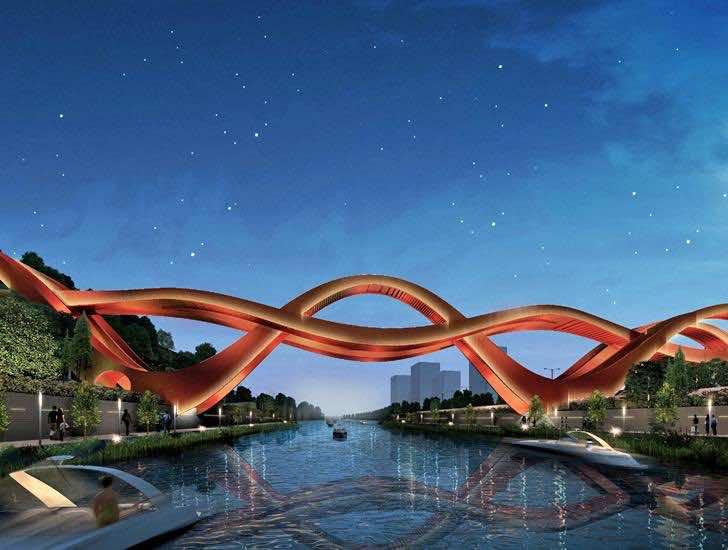 Unique Pedestrian Bridge in China 2