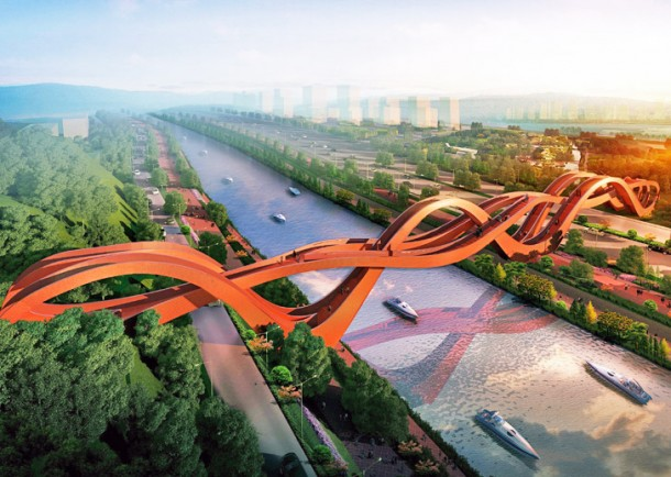 Unique Pedestrian Bridge in China 3
