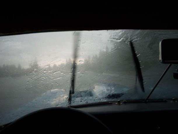 Windscreen in Rain