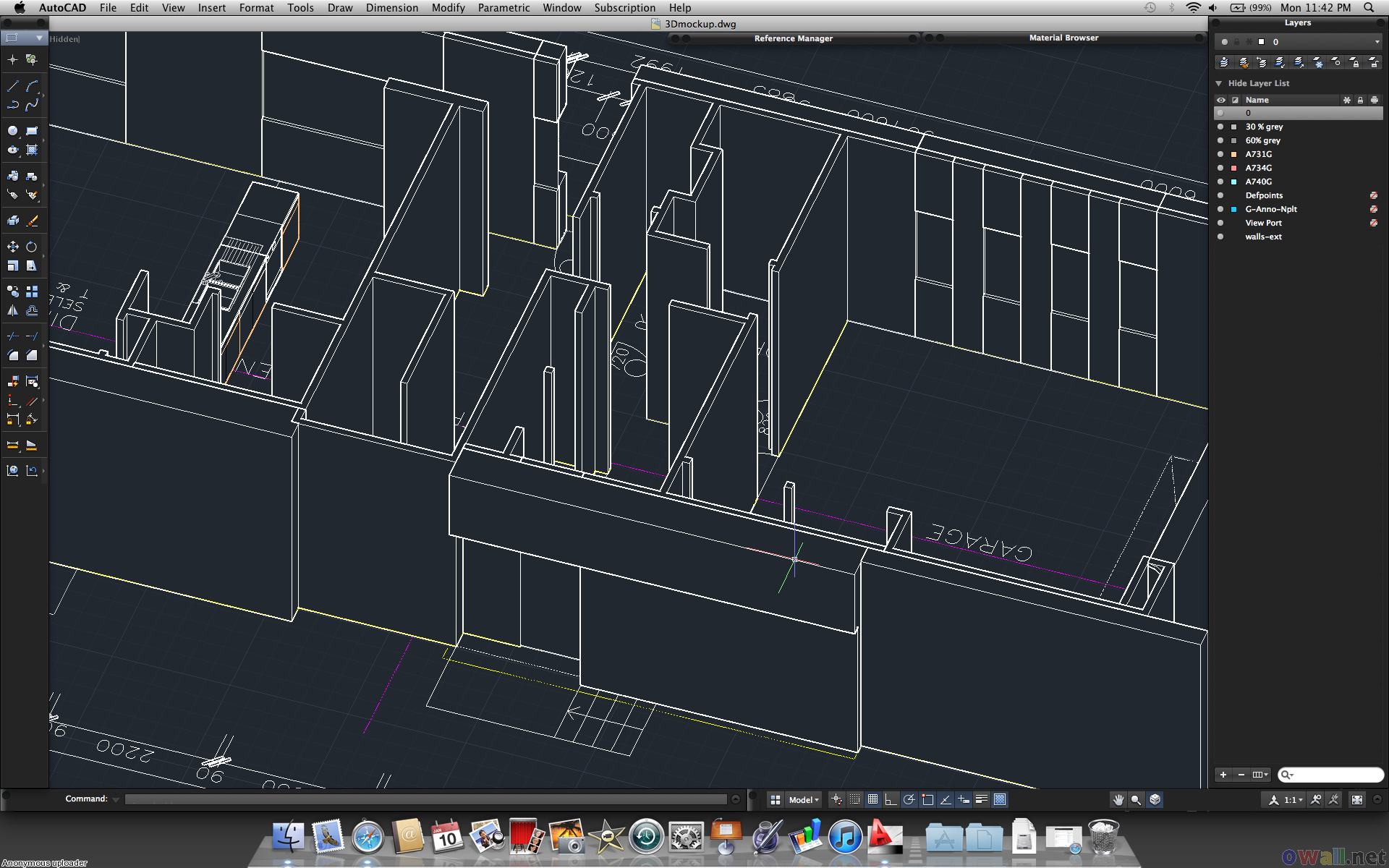 Autocad wallpaper 9 for Garderobe 3d dwg