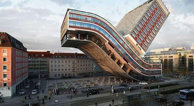 Spanish designer turns hotel skyscraper into a transformer for Design hotel munich