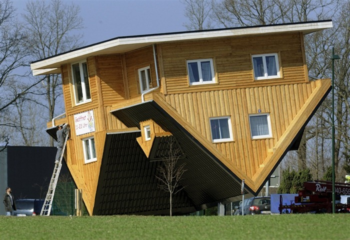 The amazing house in germany that is upside down The upside house