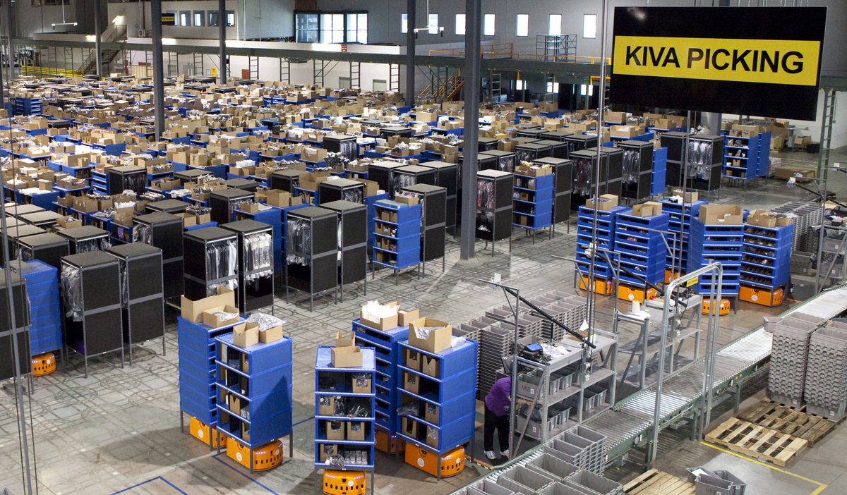 Amazon Uses An Army Of Robot Workers In Its Warehouse To